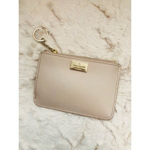 Baby Pink Kate Spade keychain wallet!
